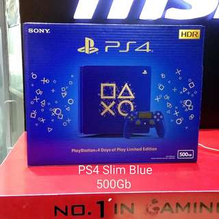 Kredit PS4 Slim Blue 500GB +Game FIFA18 Tanpa CC