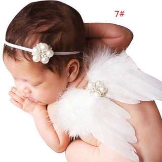 Angel wings and headband Baby costume
