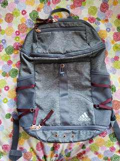 Adidas Grey and Rose Gold Backpack