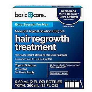 6 months supply : Basic + Care Minoxidil Topical Solution 5% - 6 bottles 6 months supply