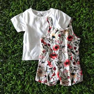 Girl set Flower Jumpsuit