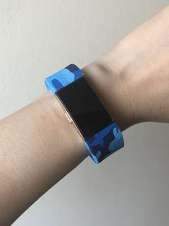Fitbit Charge 2 Camo Light-Blue Straps in 'S' and 'L'