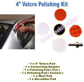 "[NEW] 6 PCS 4"" CAR POLISHING PAD / POLISHER / WAX/ 6P"