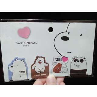We Bare Bears Magnetic Bookmarks