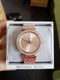 Michael Kors Darci Pave Rose Gold Watch