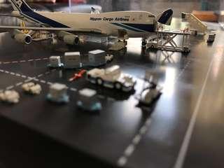 Hogan 1:400 ANA/NCA 全日空 日本貨運航空 開門版 747-400F JA01KZ 飛機模型套裝