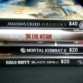 [Free mailing] Assassin's Creed Origins call of duty blck ops 3 Evil within mortal kombat PS4 games