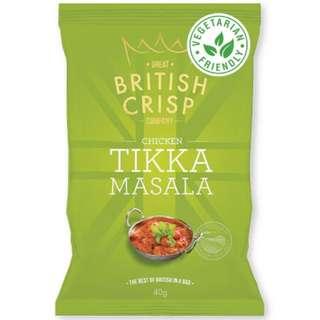 Great British Crisp Co. - Chicken Tikka Masala Potato Chips (10x150g)