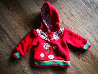 Little red jacket with hood