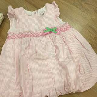 First impression pink stripe dress