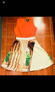 Plains and Prints Dress LIMITED edition