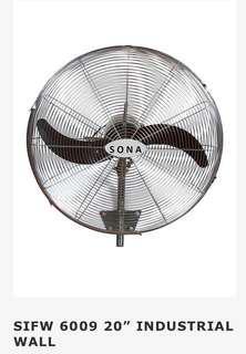 2 units SONA industrial wall fans