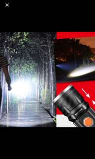 In stock USB rechargeable flashlight COB T6