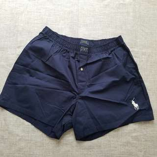 Polo男裝平腳內褲 underwear 藍色 L碼
