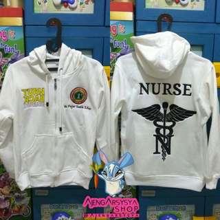 Jaket Zipper Hoodie Nurse