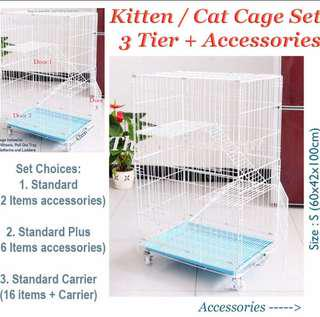 kitten / Cat Cage and accessories