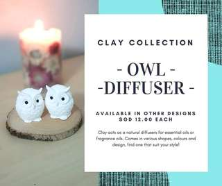 Clay diffuser - Owl