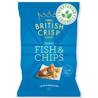 Great British Crisp Co. - Simply Fish & Chips Potato Chips (10x150g)
