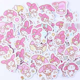 Melody deco stickers for diary/schedule book etc