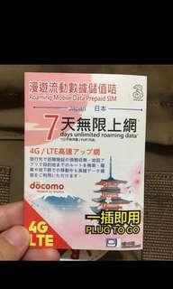 🚚 日本 網路卡   7天