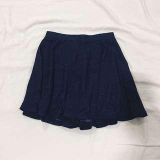 Navy blue skater skirt (Size XS)