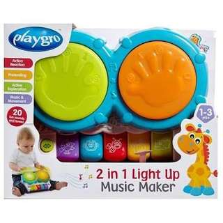 Playgro 2in1 Light Up Music Maker