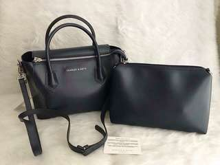 SALE Charles and Keith- navy blue