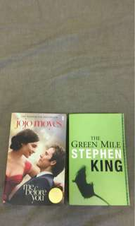 Me Before You by Jojo Moyes + The Green Mile by Stephen King