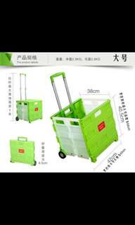 Blue Foldable Shopping Cart/Trolley