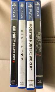 PS4 GAMES PACKAGE