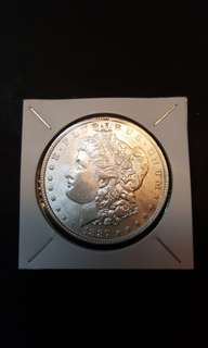 1887 Morgan silver Dollar.