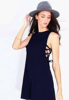 Self tie black dress