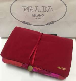 Kenzo red pouch