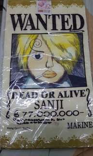 One Piece wanted posters face towel