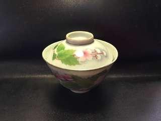 聽雨樓:#MSH-0013:【民國】王隆泰造刷花迷你小蓋碗一套