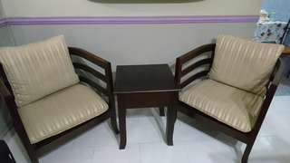 Price Reduced! - Solid Wood Single Chairs c/w Table