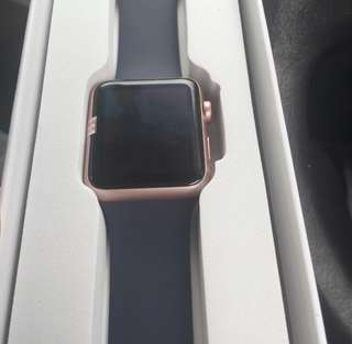 Rose gold apple watch