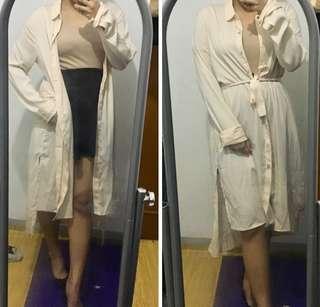 F21 Cream Long Cardigan/Jacket