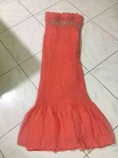 Peach/Orange Long Gown