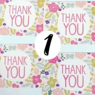 🚚 50PCs Thank You Cards Greeting Cards Gift Floral Design Pack (4 CHOICES)