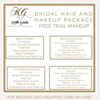 Bridal Hair and Makeup Package