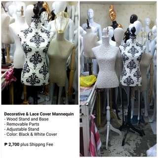 Decorative & Lace Cover Half Body Mannequin