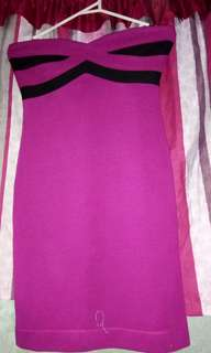 Pink tube dress by guess