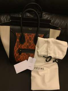 Celine Luggage Mini Python 大網蛇皮