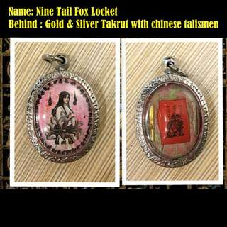Nine tail fox locket