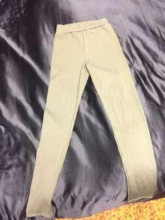 Khaki leggings from boohoo