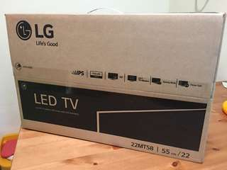 "LG 22"" LED TV, new in original box with warranty"