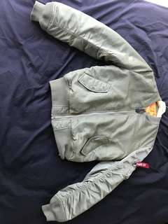 Alpha industries olive bomber ma1 jacket
