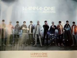 Wanna One Undivided Artbook vet Poster