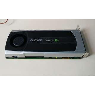 (二手) Nvidia Q6000 6GB DDR5 ECC CUDA PCIE 2.0 95% New